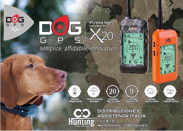 Volantino orizzontale Dog Trace X20+ 2018