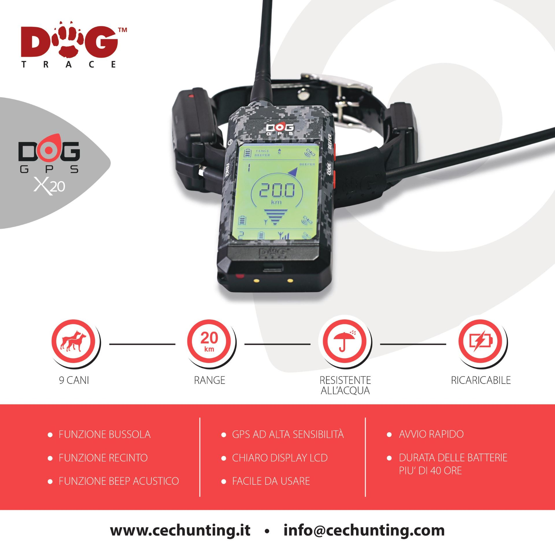 Brochure collare DOG GPS X20 Dogtrace