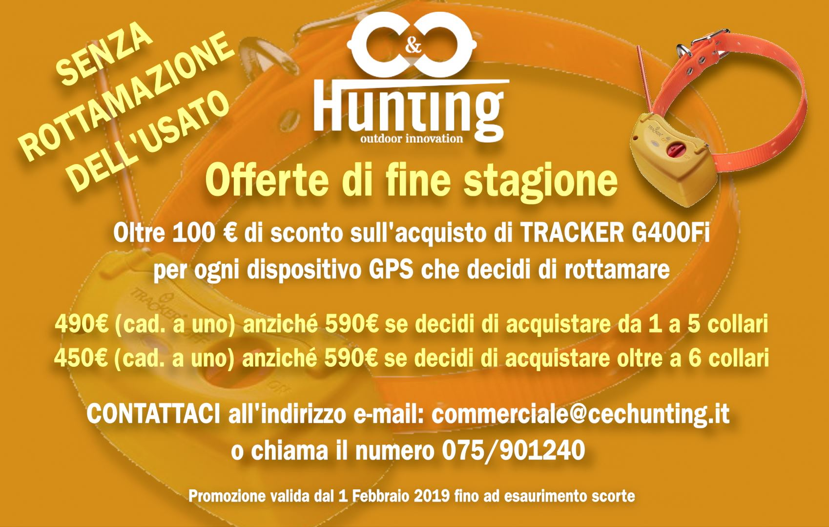 Offerta collari satellitari di fine stagione